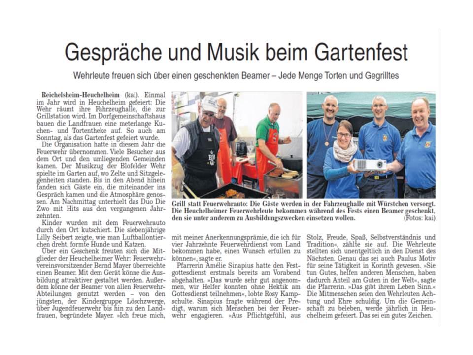 Gartenfest2014Beamerübergabe